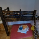 Bunk Bed Out of Reclaimed Wood and With Fire-finish