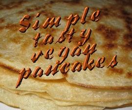Simple, tasty vegan pancakes