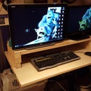 Make a Wooden Monitor Stand, With Room for a Keyboard and Mouse