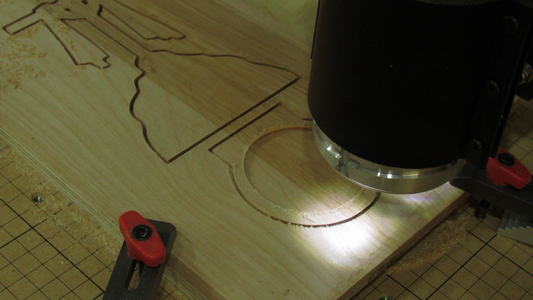 Cutting the Base / Candle Holder