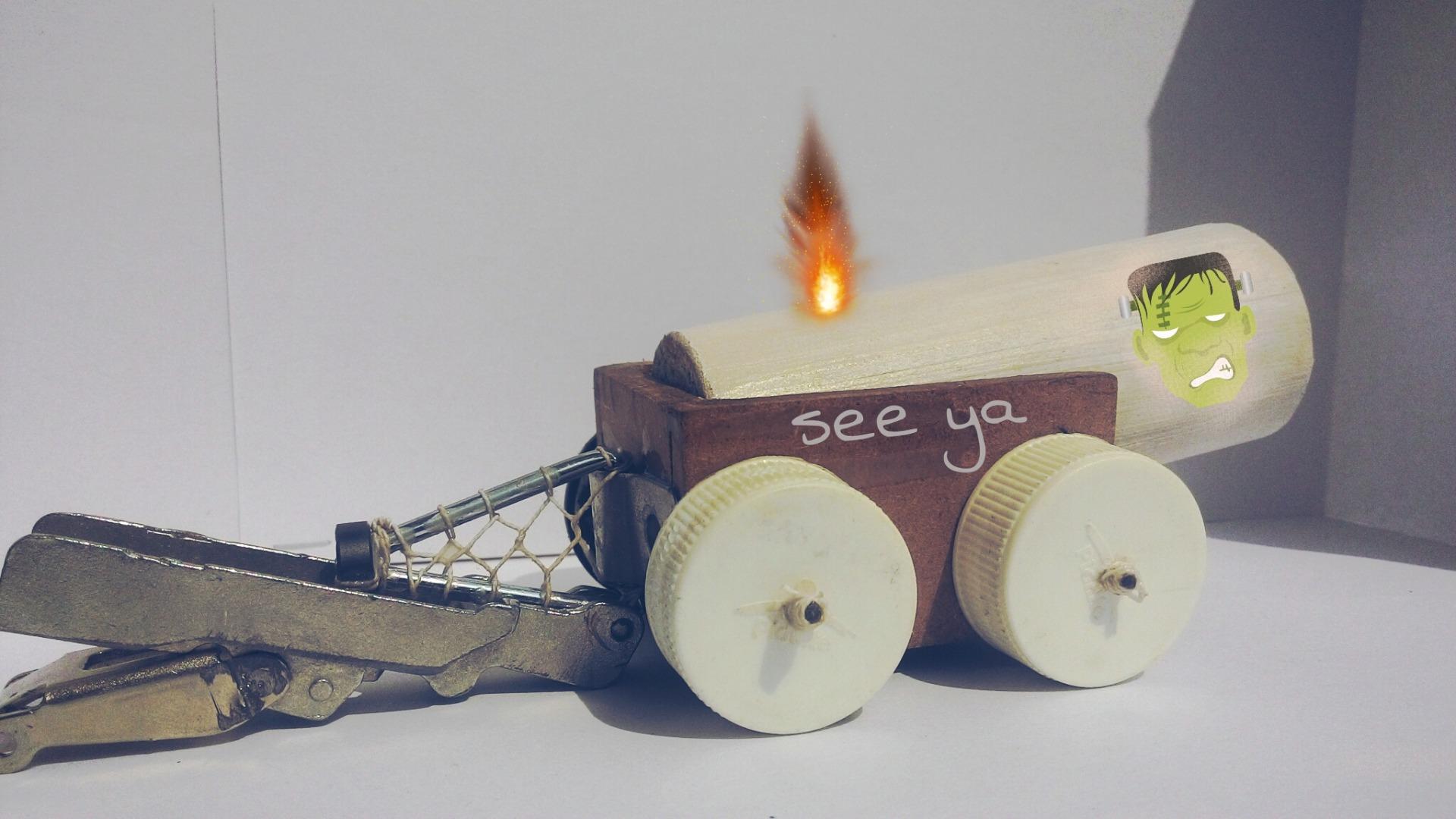 Picture of Mini Paper Cannon.