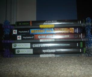 Simple K'nex Video Game Rack