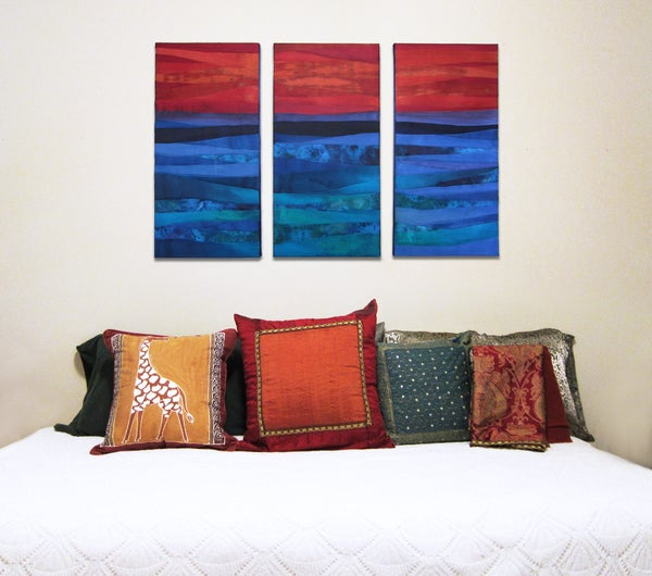 Hand Dyed Fabric Painting