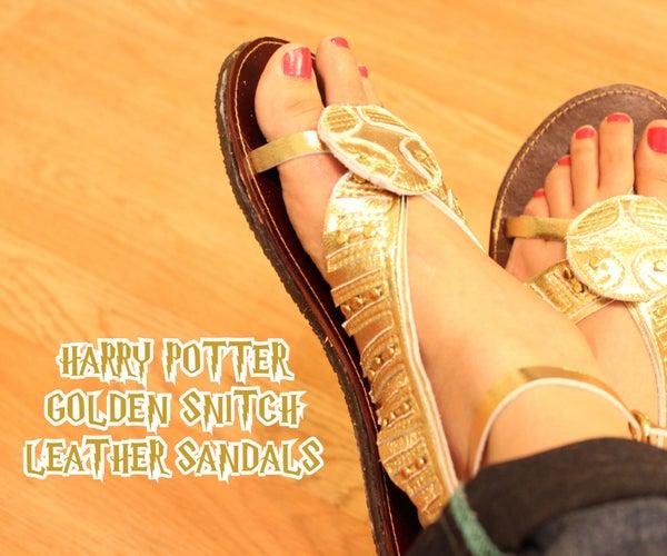 Harry Potter Golden Snitch Leather Sandal
