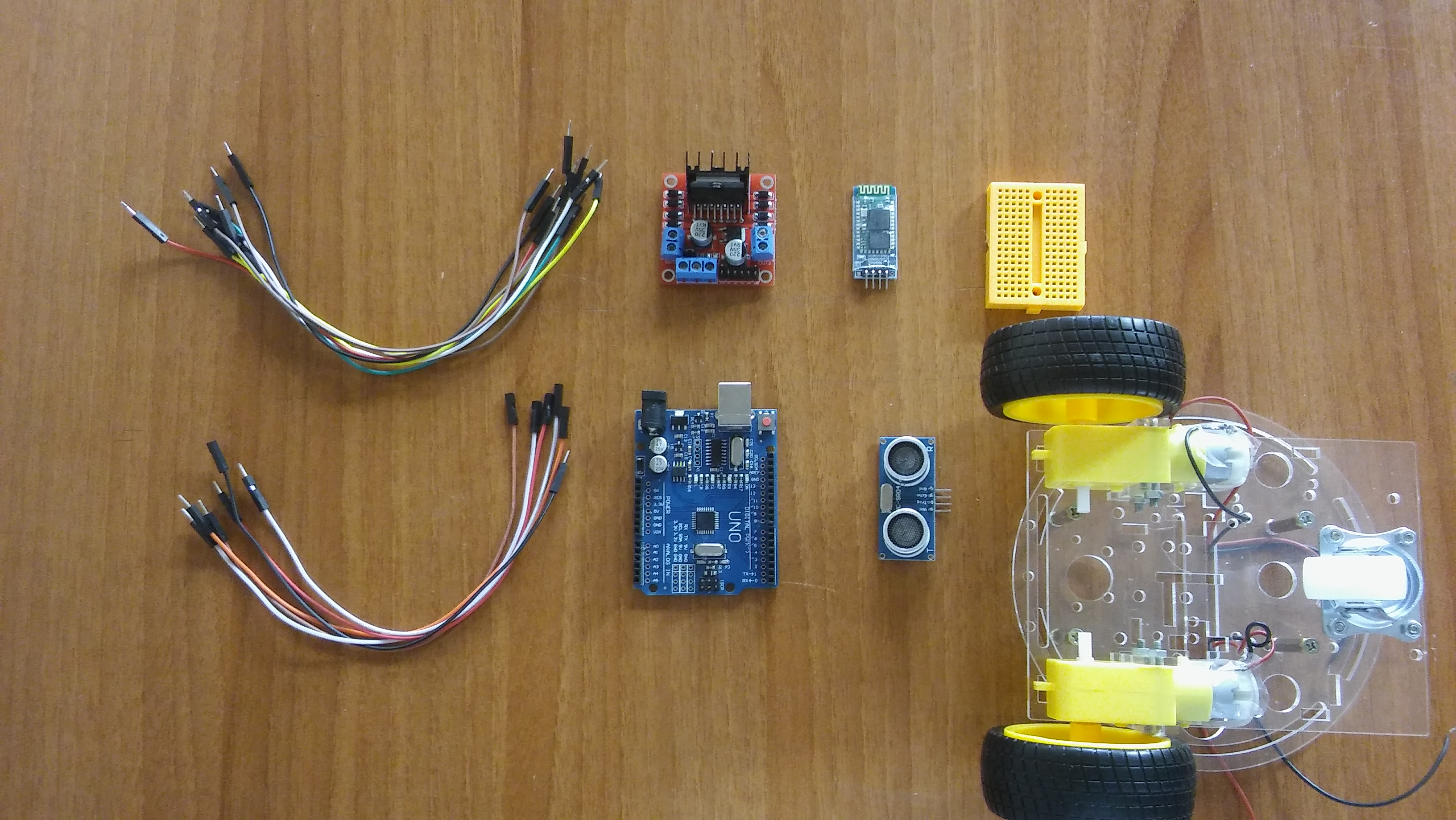 Picture of Parts You Need to Make This Robot