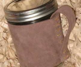 Mason Jar Coffee Mug Leather Cover