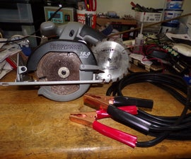 Power Craftsman Battery Saw From Car