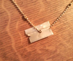 Razor Blade Necklace From Soda Can