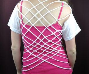 Woven Back T-Shirt Mod