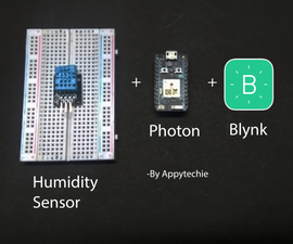 Photon:Displaying Values of DHT11 Using Blynk