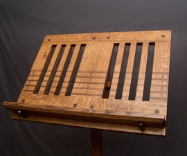 Inlaid Mission/Craftsman Music Stand