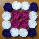 Woollen flowers without crochet!!!