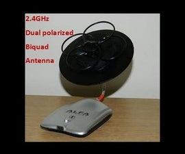 Dual Polarized Biquad Antenna