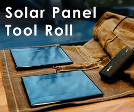 Solar Panel Charging Tool Roll