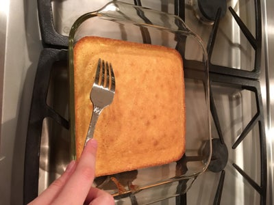 Add the Milk to the Cake