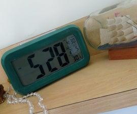 Duct tape clock wrap