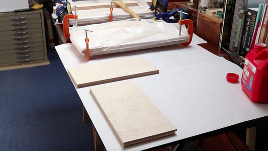 Preparing the Press Sides, Shelves and Feet
