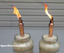 Mini Copper Tabletop Tiki Torch