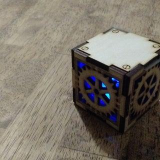 "Laser Cut Steampunk Box (2 1/8"")"
