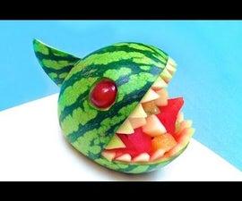 Fruit Carving Tutorial: How to Make a Watermelon Piranha Bowl