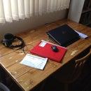 Turn a trestle table into a desk!