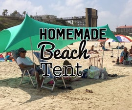Homemade Beach Tent