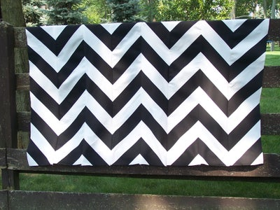 How-to Make Your Own Chevron Design Upholstery Fabric