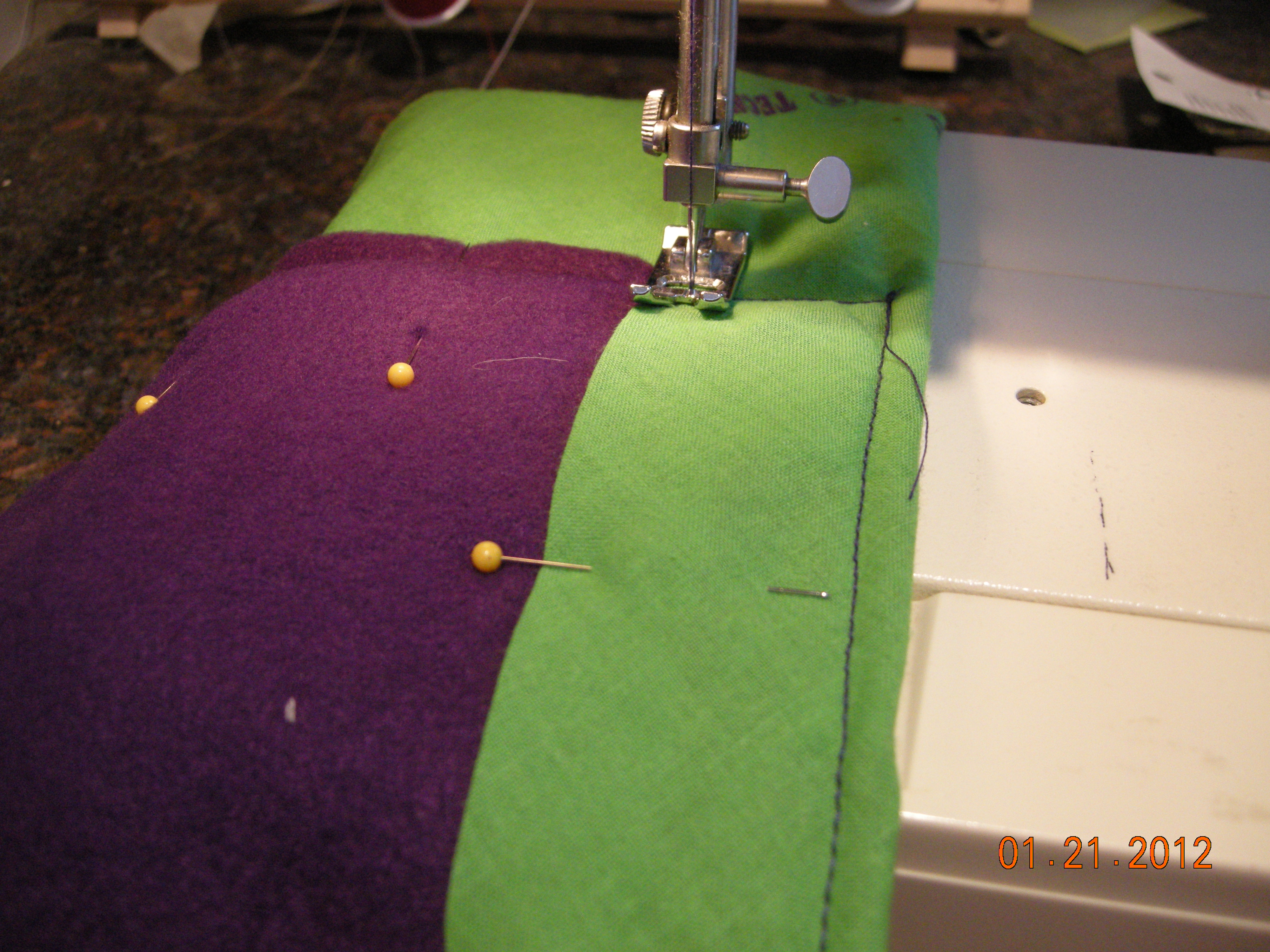 Picture of Step 5: Stitching the Fleece Lining
