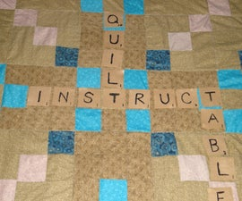 Word game lap quilt