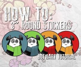 "HOW TO: 3"" ROUND PANDA STICKERS"