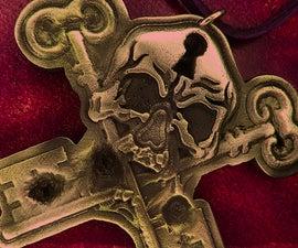 Pewter Skeleton Key Talisman