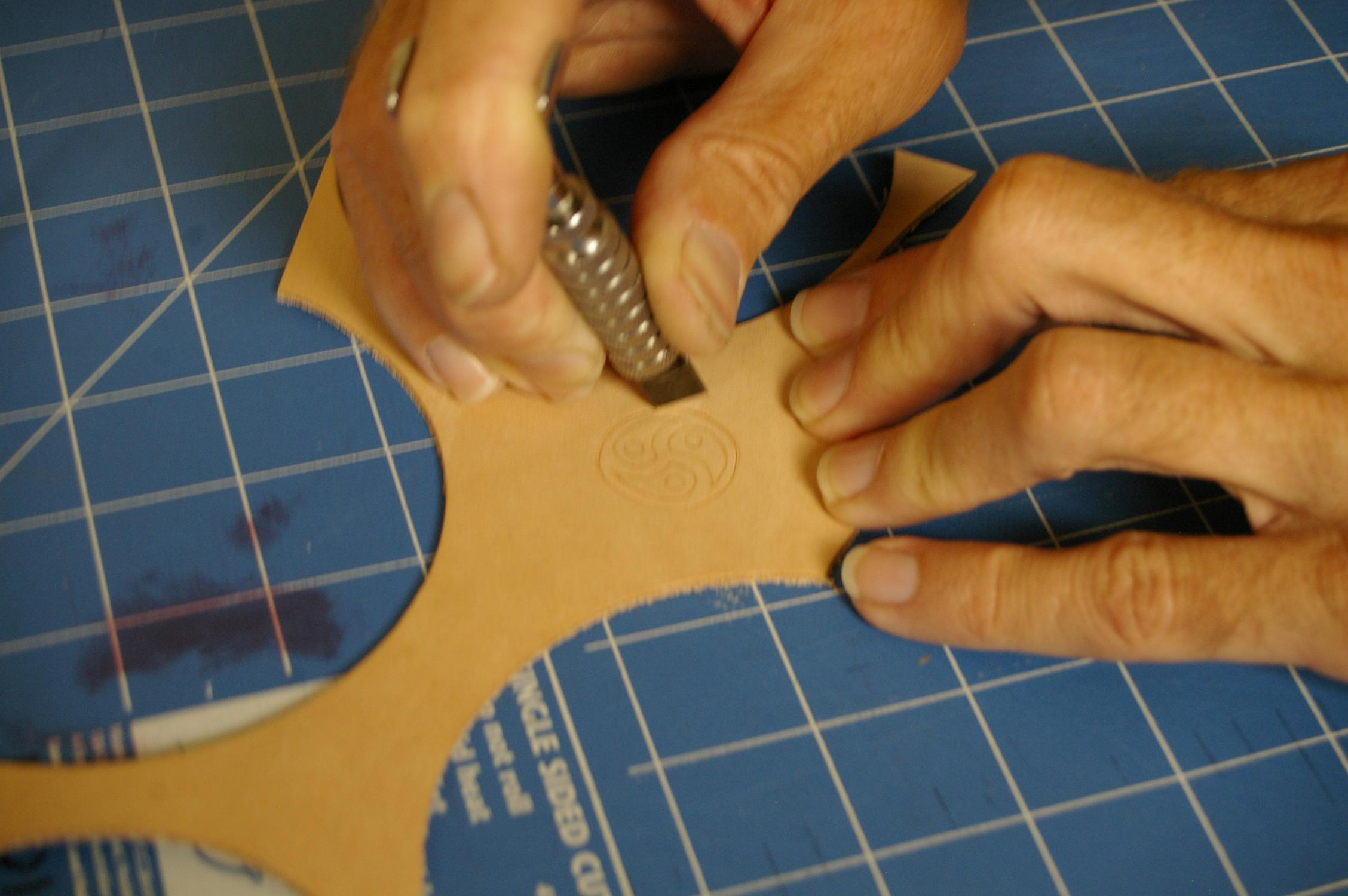 """Picture of """"Carving"""" the Leather"""