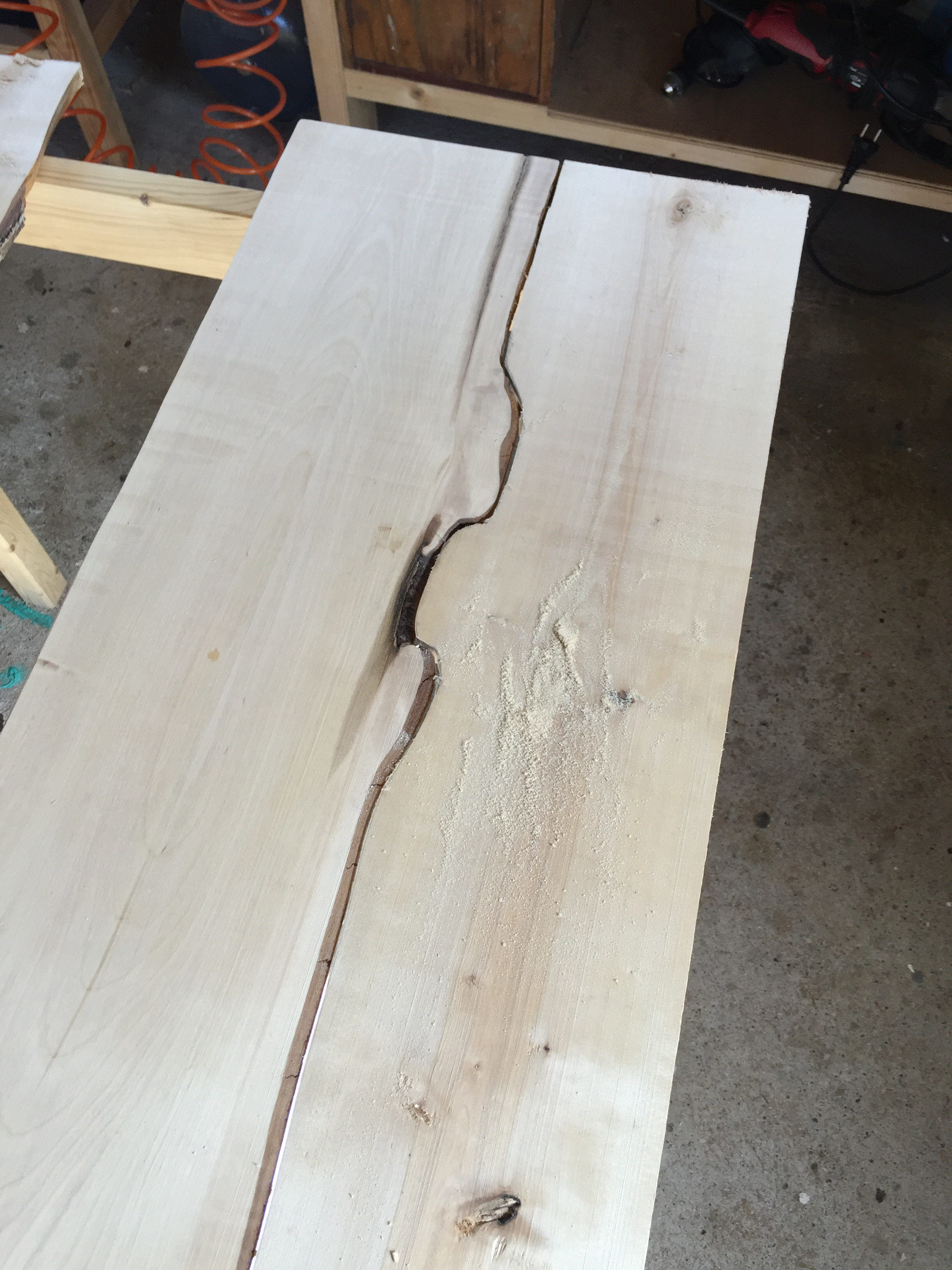 Picture of Sanding to Match the Pieces