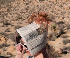 Newspaper Sun Bonnet