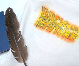 DIY Back to the Future cloth print using crayons!
