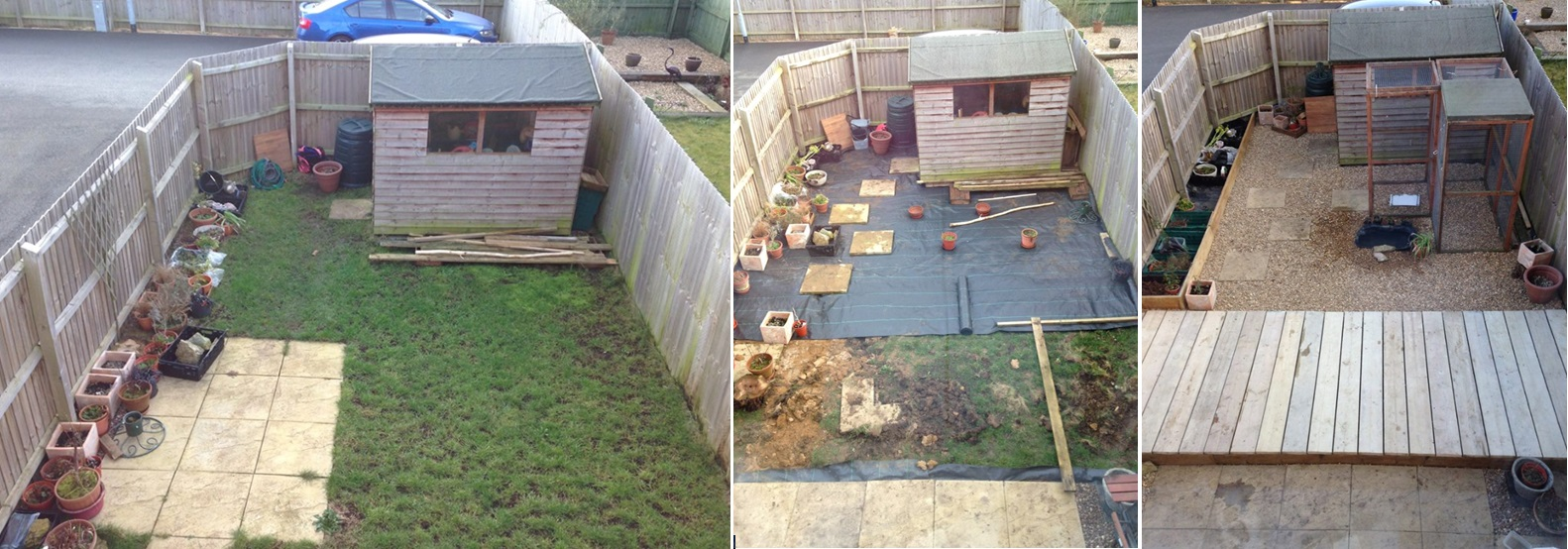 Picture of Before and After Small Garden