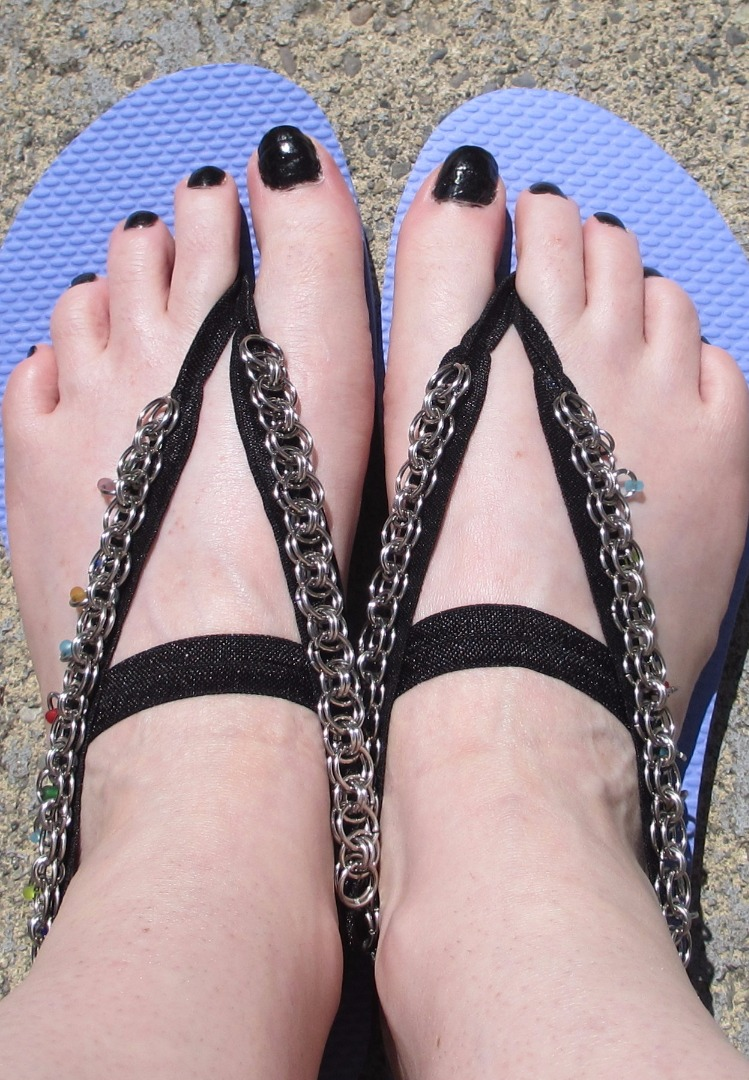 Picture of Chainmaille (or Anything) Sandals