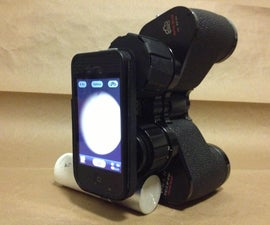 Binocular Mobile Phone Mount.