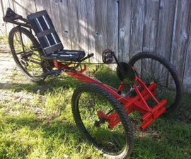 Recumbent Trike from old parts **Now Electric**