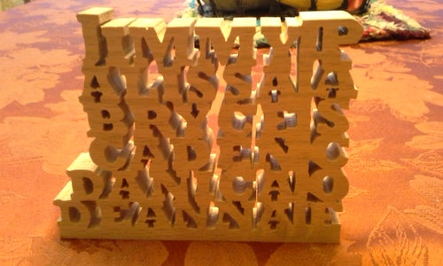 Wooden Name Block