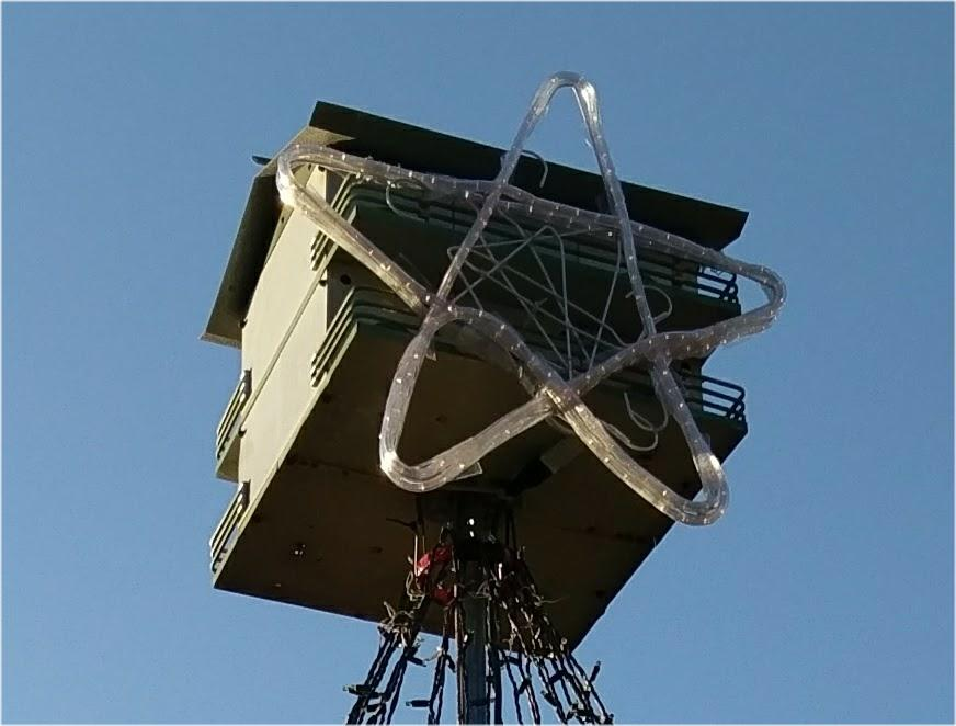 Picture of Hanging the Star.  and Power Considerations.