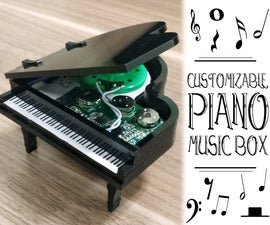 Customizable Piano Music Box