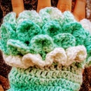 Crochet Dragon Scale Fingerless Gloves
