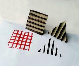 D.I.Y. Cardboard Stamps