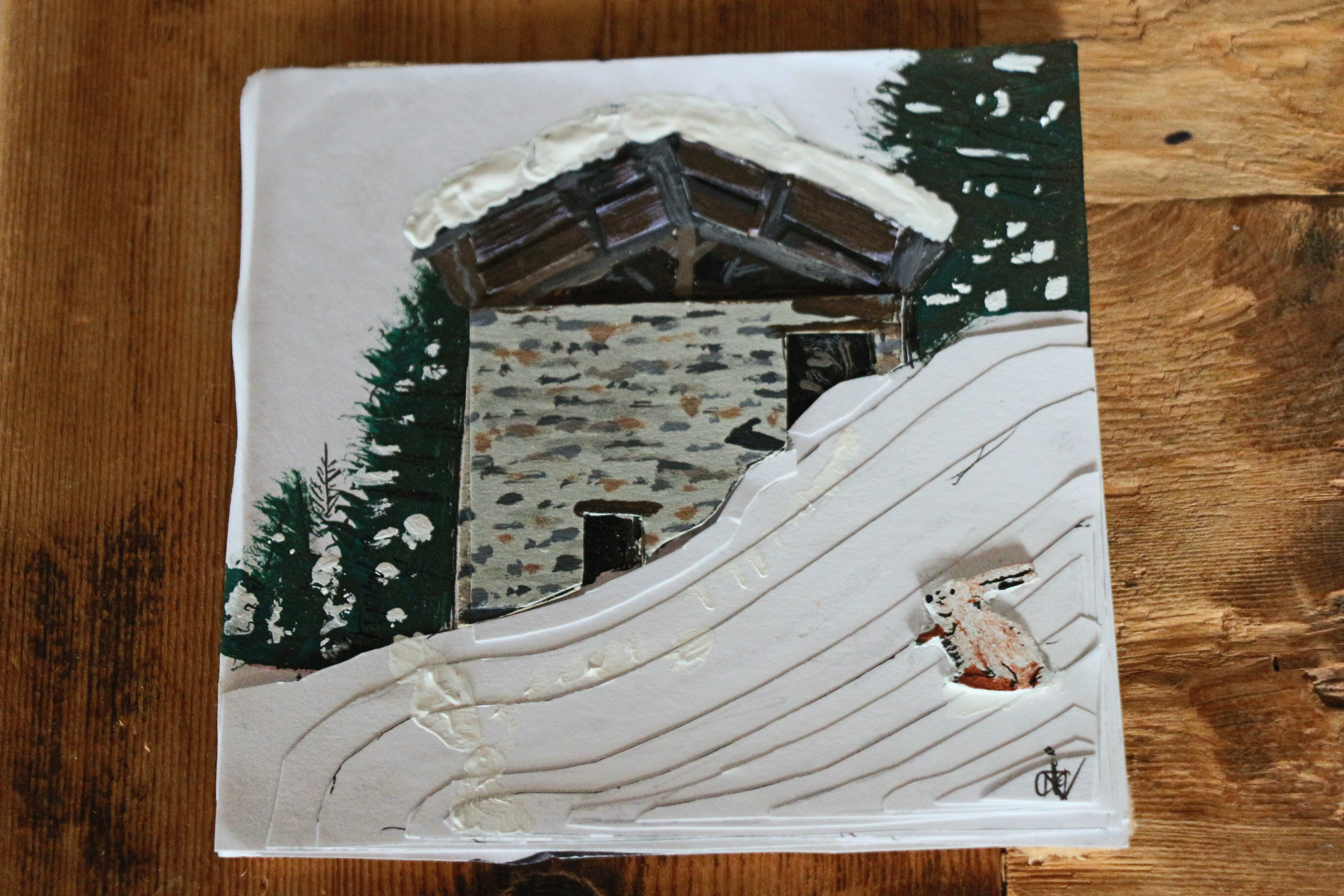 Picture of 3d Paper and Paint Picture