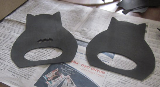 Cut Down 2 Batman Shapes for 2 Sides of the Lantern.