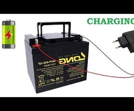How to Charge 12V Battery With 5V Mobile Charger