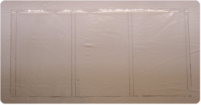 Picture of Trace the Position of the Battens on the Plastic Sheet.