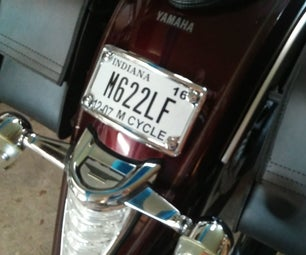 Motorcycle Curved License Plate Frame