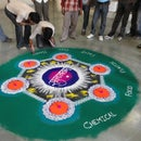 My color work... Rangoli... Some steps....